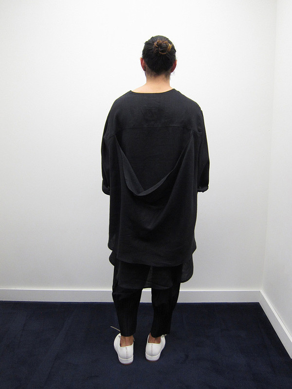 69 Whatever Dress, Black Linen