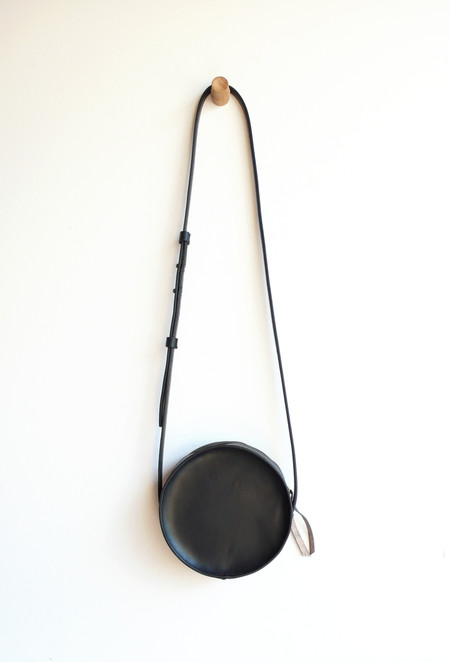 Sara Barner Leather Circle Bag