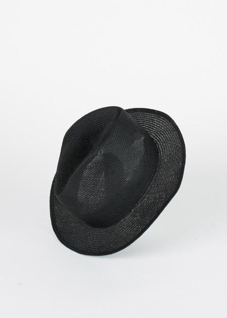Reinhard Plank Louis Ramie Straw Hat - Black