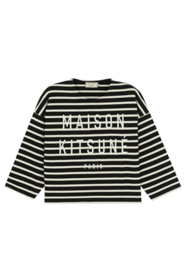 Kitsune Marin Crop Stripe Sweatshirt