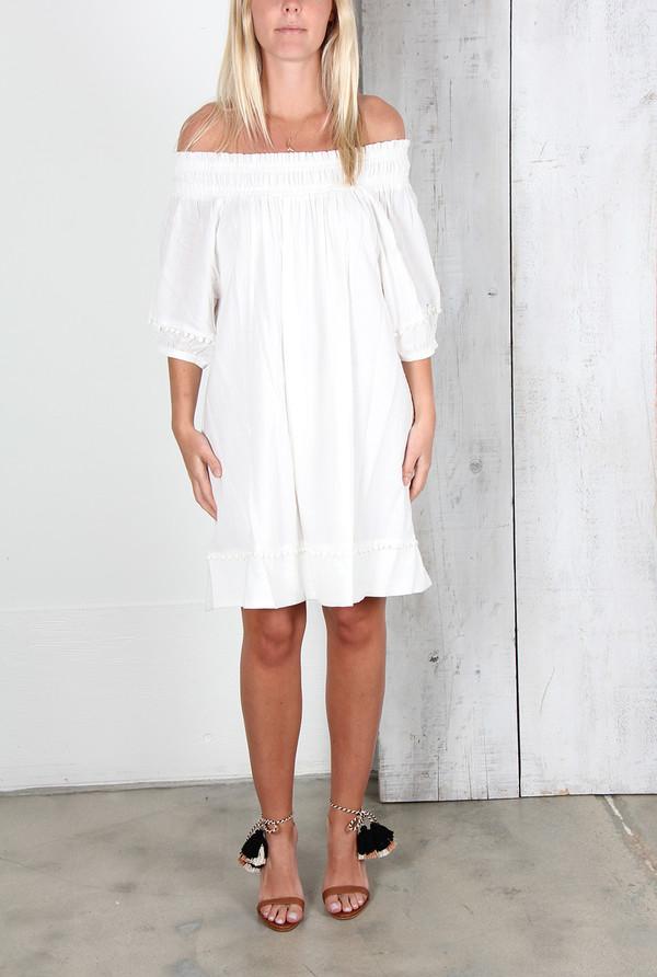 APIECE APART FELINA OFF-THE-SHOULDER DRESS
