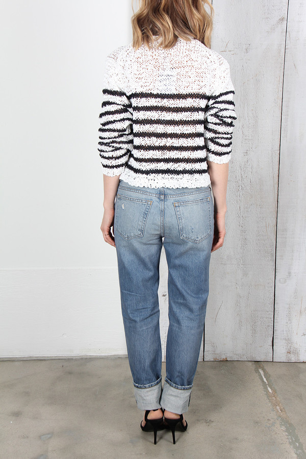 T By Alexander Wang WANG 003 DESTROYED BOY FIT DENIM