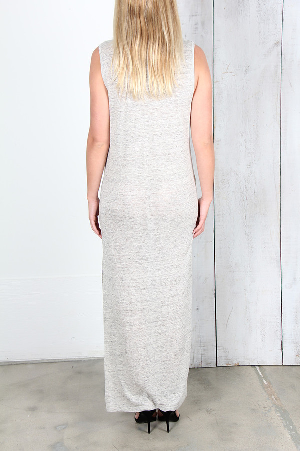 ALEXANDER WANG LONG LINEN JERSEY TANK DRESS