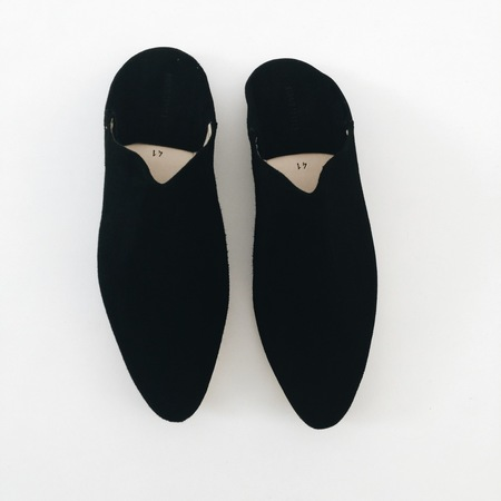 Carrie Forbes Babouche in Black Suede