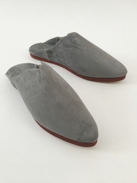 Carrie Forbes Babouche in Grey Suede