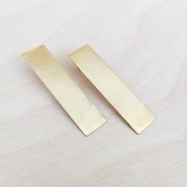 Aoko Su. Monolith Earrings. Bronze