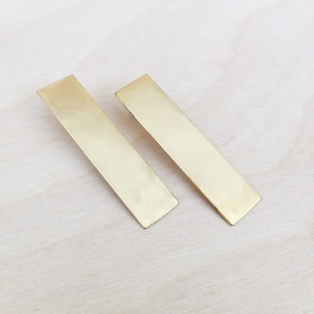 Aoko Su. Monolith Earrings. Bronze