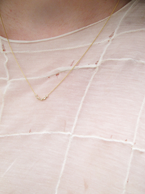 Quarry Cas Necklace, White Diamond