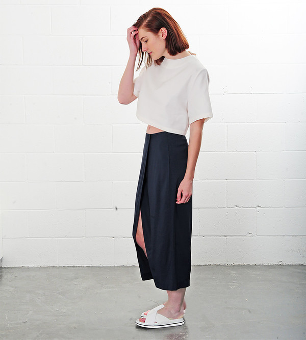 Ganni Total Eclipse Tailor Skirt