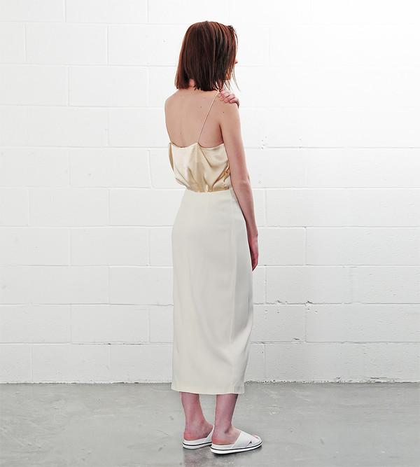 Ganni Vanilla Ice White Tailor Skirt