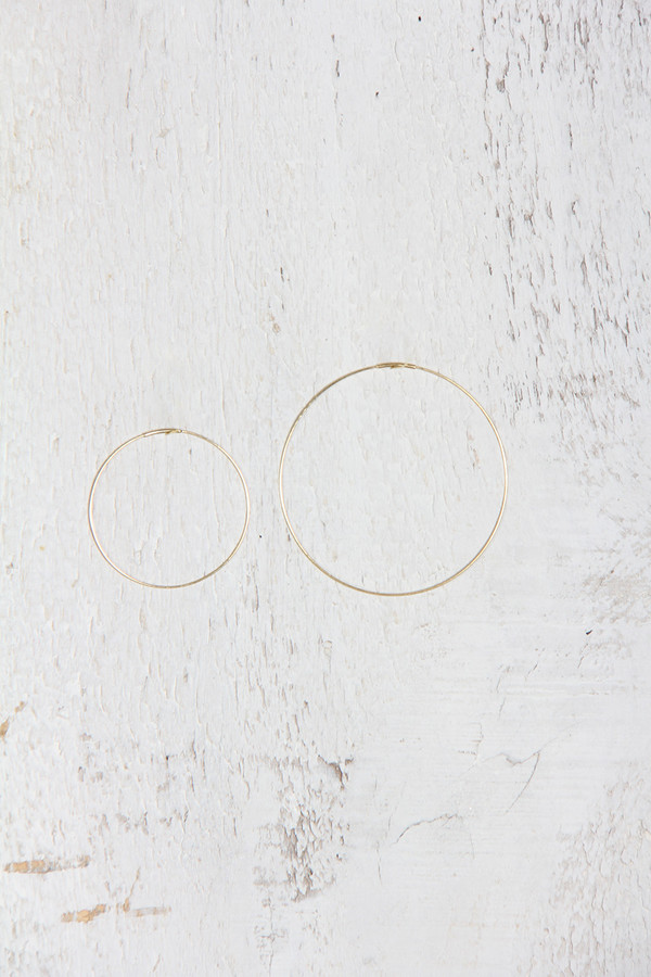 Kathleen Whitaker HOOP EARRING MEDIUM