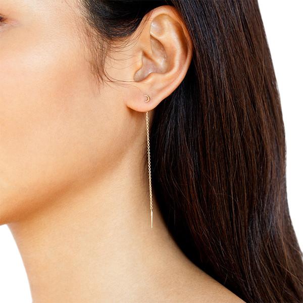 MANON MOON THREAD EARRINGS