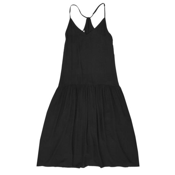 Ali Golden DROP-WAIST DRESS - BLACK