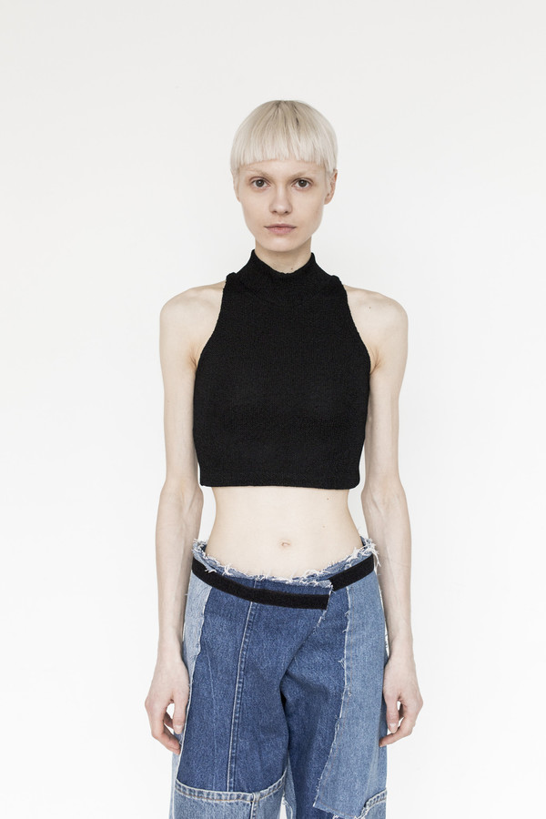 Markoo Blend Knit Crop Top