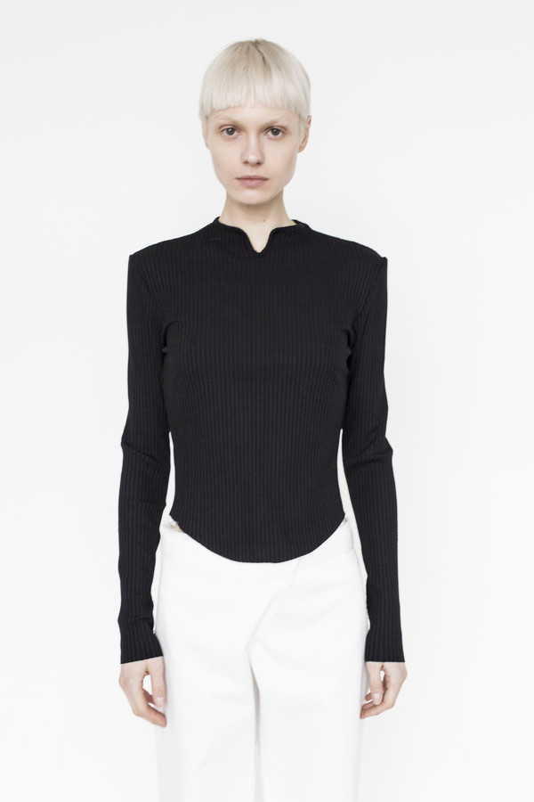 Assembly Cotton Ribbed L/S T