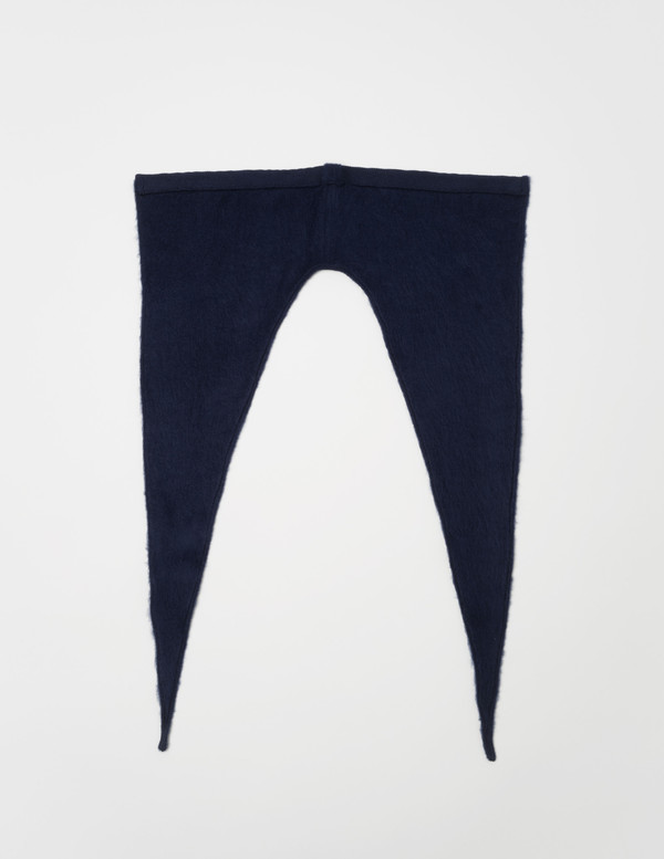 Clyde Neck Shade in Navy Wool