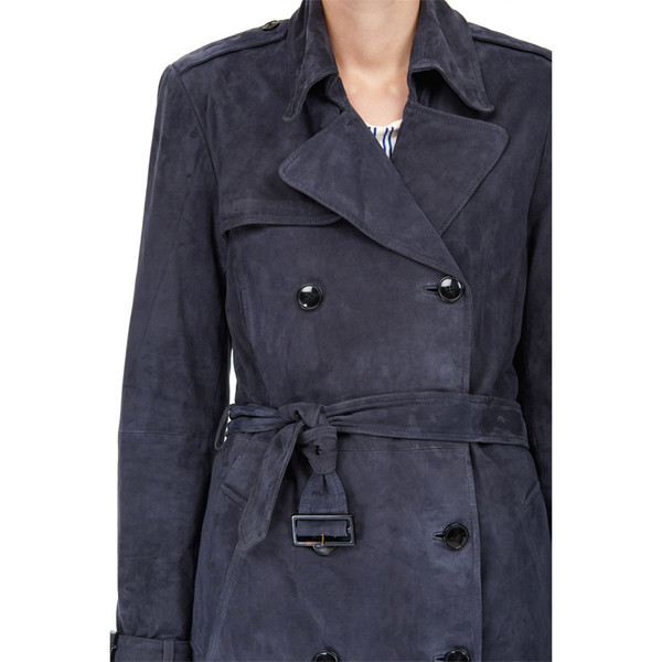 closed club suede trench coat
