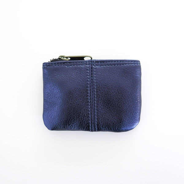 Erica Tanov metallic leather coin pouch
