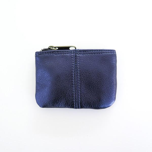 Erica Tanov metallic leather coin pouch