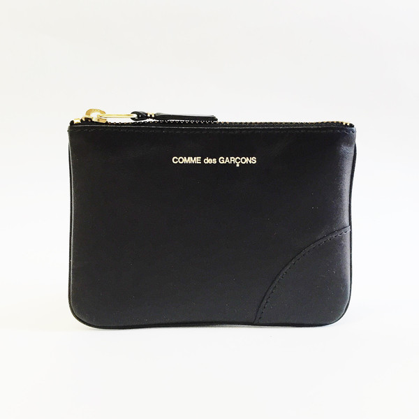 Comme des Garcons - Classic Leather Small Black Zip-up Pouch
