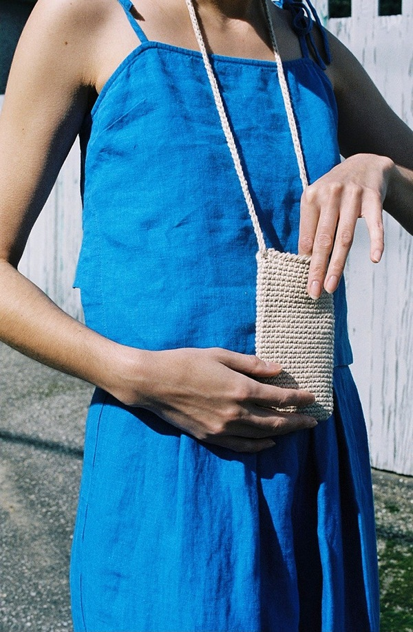 Lauren Manoogian Crochet Pouch - crudo