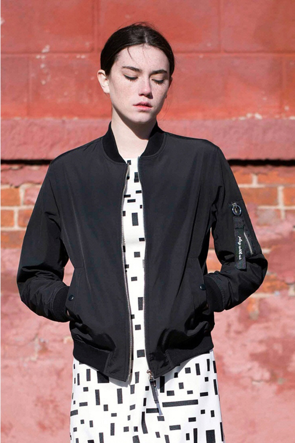 Lookast Play Bomber Jacket- Black