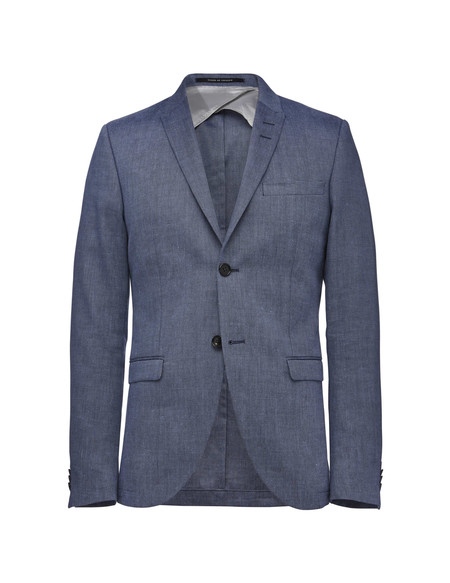 Men's Tiger of Sweden Evert Linen Blazer | Port Blue