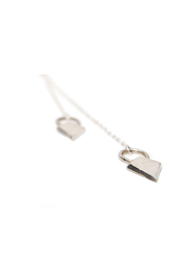Dea Dia Shield Lariat Necklace Silver