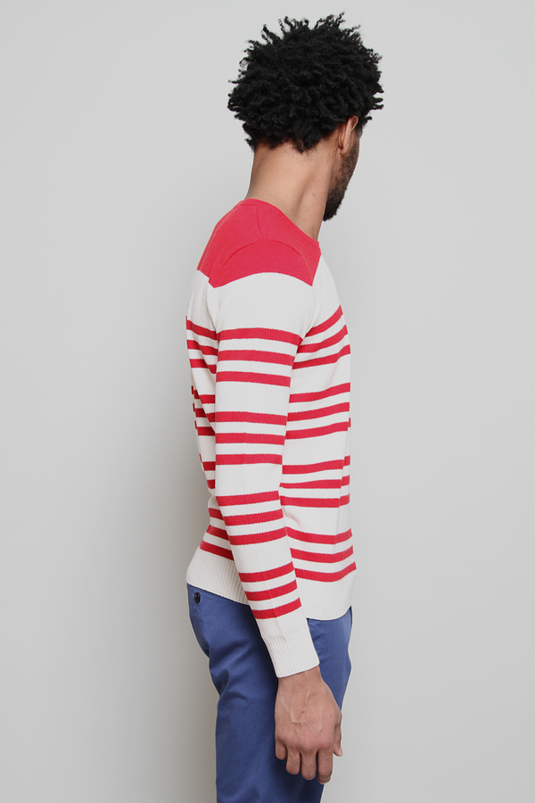 Chauncey Pique Nautical Crewneck Sweatshirt