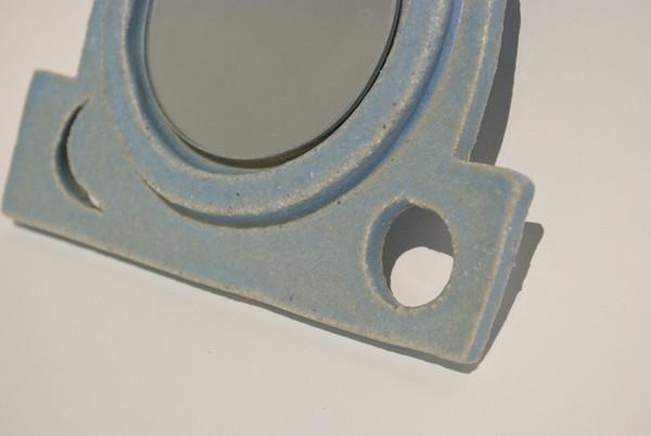 Morgan Peck Handheld Vanity Mirror - Matte Blue
