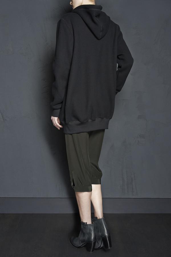 KES Oversized Mid Length Fleece Lined Hoodie