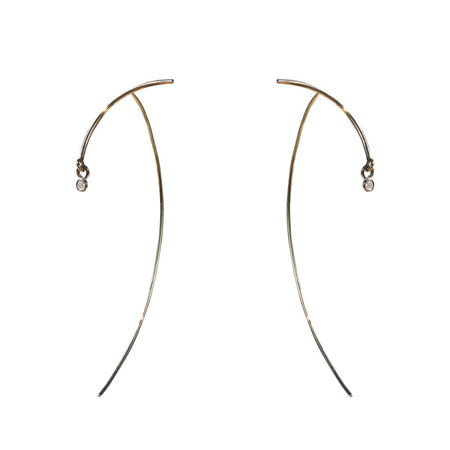 TARA 4779 Yellow Gold Arc Stabile Earring