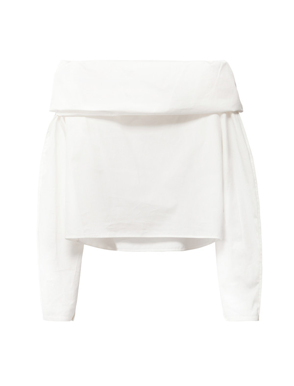 Lemaire Bare Shoulder Blouse Chalk