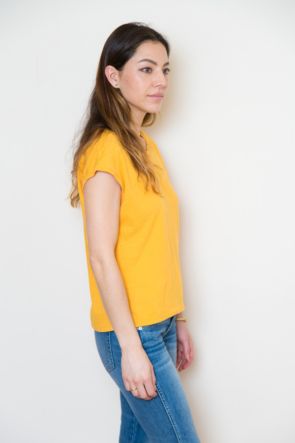 atelier delphine cap sleeve tee in golden poppy