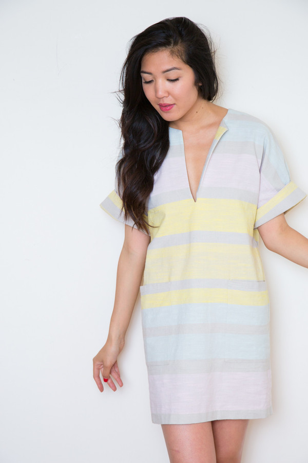 mara hoffman cotton pocket mini dress