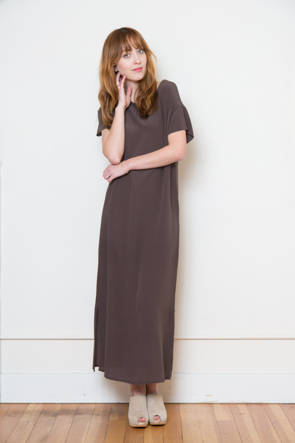Ottod'ame Silk Midi Dress