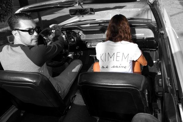 KIMEM me suive print T-shirt