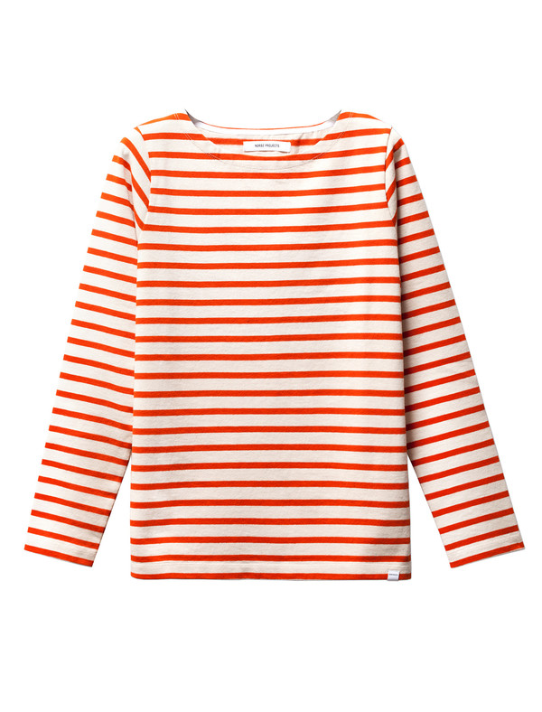 Norse Projects Inge Stripe Ecru/Orange