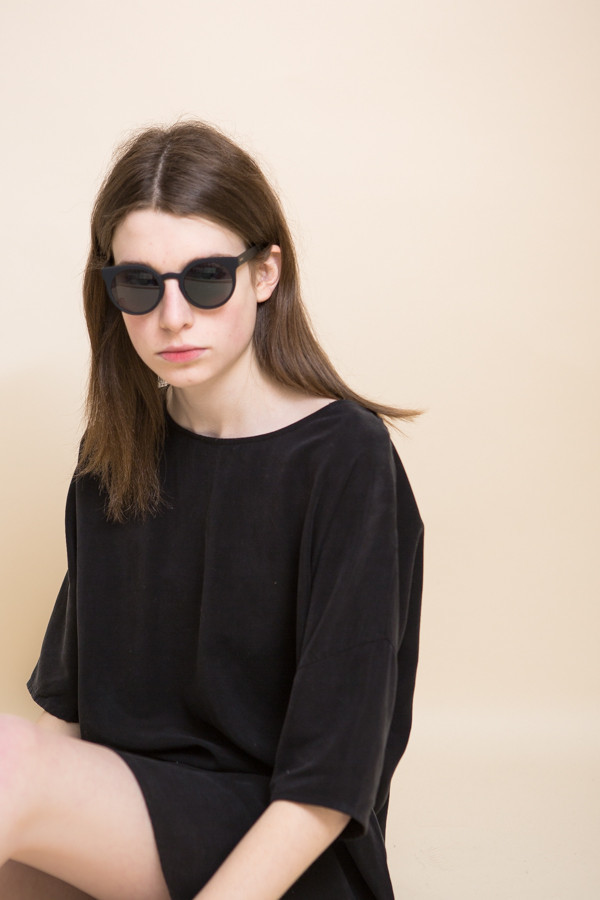 KOMONO Lulu Sunglasses / Black Metal