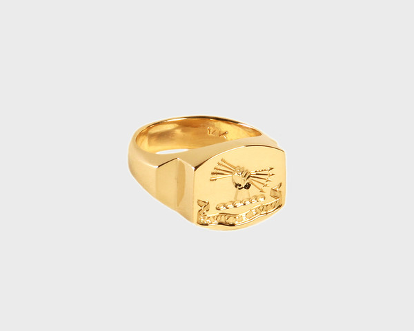Lacar Live and Let Live Signet Ring