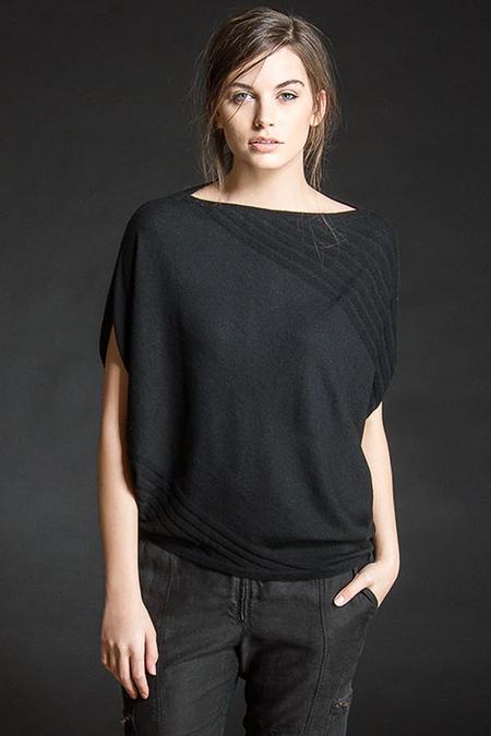 Paychi Guh Asymmetrical Popover Black