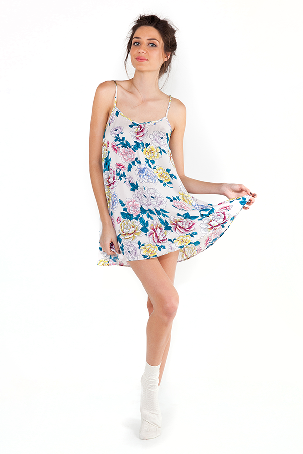 Mink Pink Bedtime Blooms Swing Dress