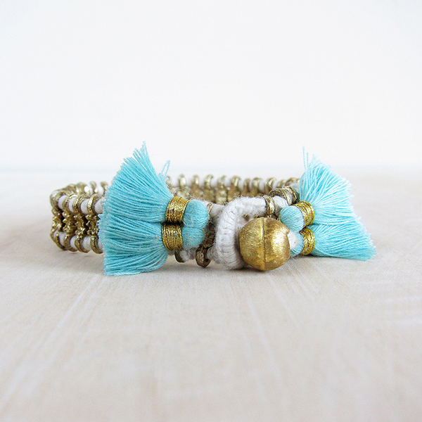Bluma Project Cala bracelet - white/sky