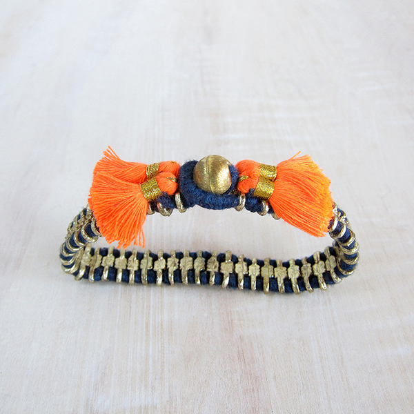 Bluma Project Cala bracelet - indigo/orange