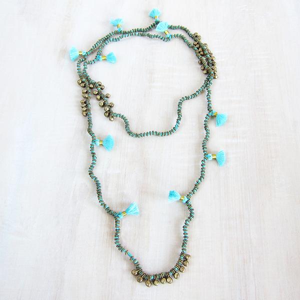 Bluma Project Farah necklace - sky