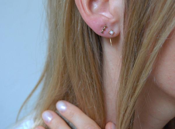 Kristen Elspeth Neptune Opal Ear Hooks
