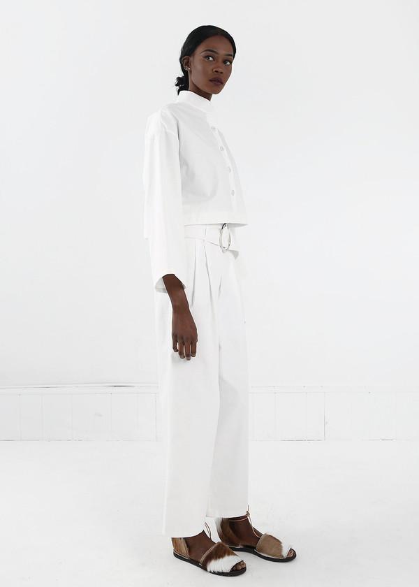 Delfina Balda White Armonia Button Up