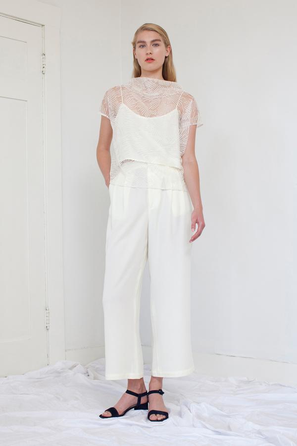Silvae Hofman Top in Cream Lace