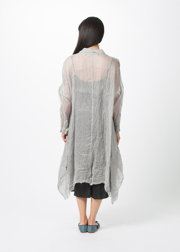 Rundholz Sheer Linen Blend Dress