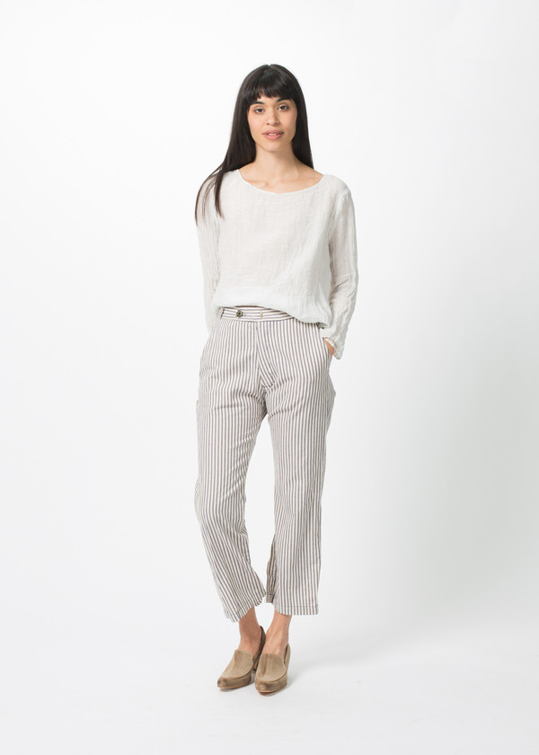 Hazel Brown Stripe Pant